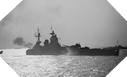 Image : L'HMS Rodney ouvre le feu sur les positions allemandes du secteur de Sword Beach le 6 juin 1944