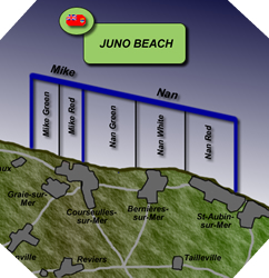 Image : Plan de Juno Beach