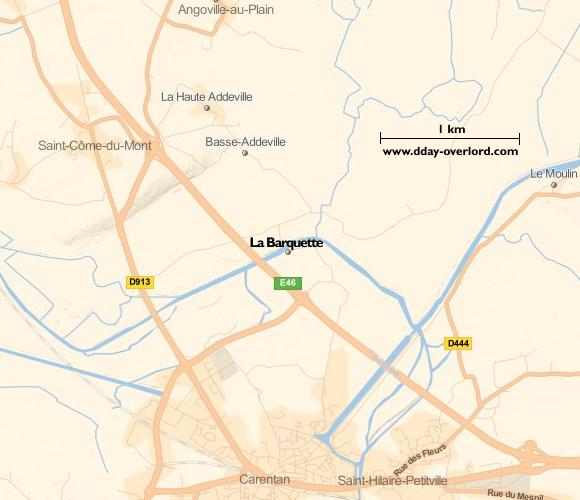 Image : carte de la commune de La Barquette