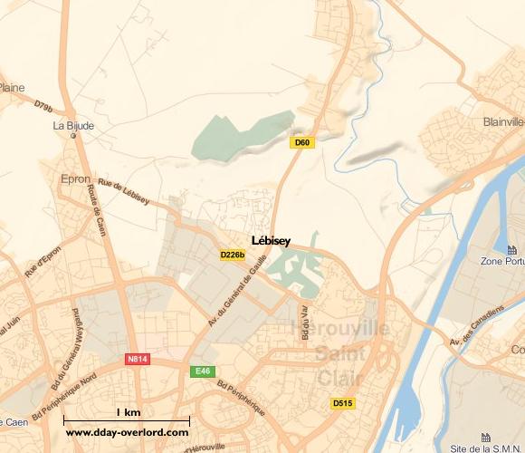 Image : Carte de Lébisey dans le Calvados