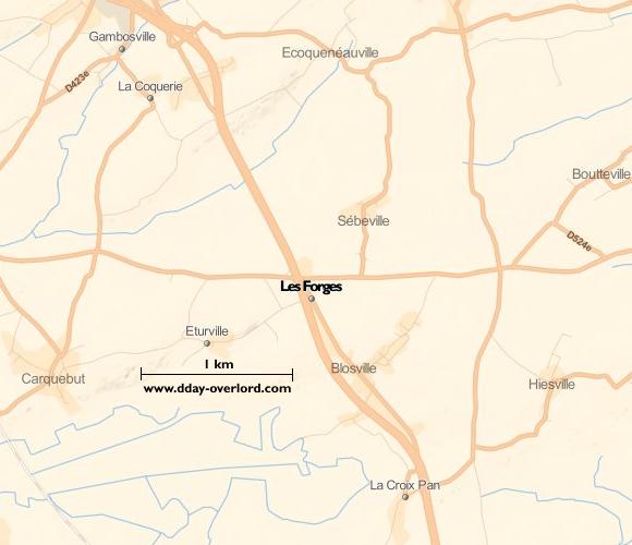 Image : carte de Les Forges