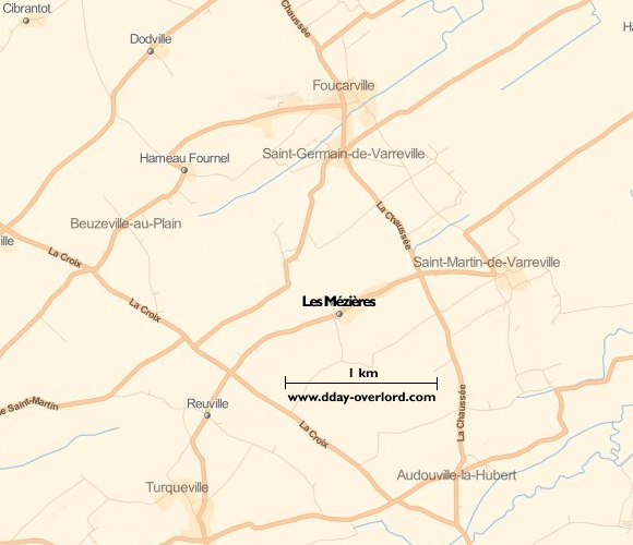 Image : carte de la commune de Les Mézières