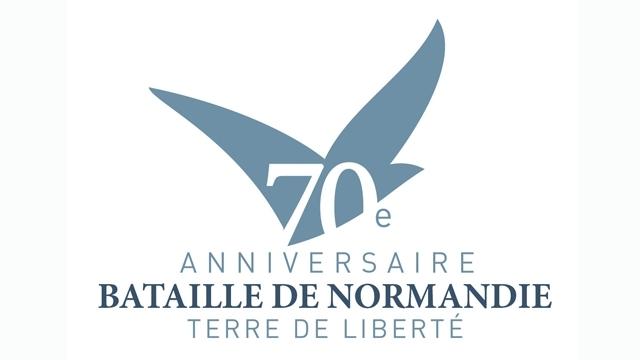Image : logo officiel des cérémonies et festivités du 70ème anniversaire du débarquement et de la bataille de Normandie