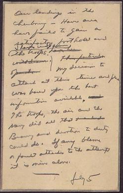 Image : message détruit d'Eisenhower