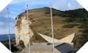Image : L'itinéraire longeant la falaise jusqu'à la valleuse, emprunté par les commandos