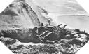 Images : Position allemande armée de deux mitrailleuses MG 34