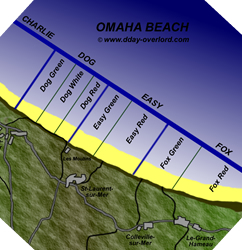 Image : Plan d'Omaha Beach