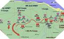 Image : Carte de la percée des lignes allemandes à compter du 7 juin 1944