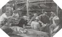 Image : Peinture réalisée par l'artiste peintre de la Navy Ltn Jamieson, représentant les blessés pris en charge à bord du L.S.T. 281