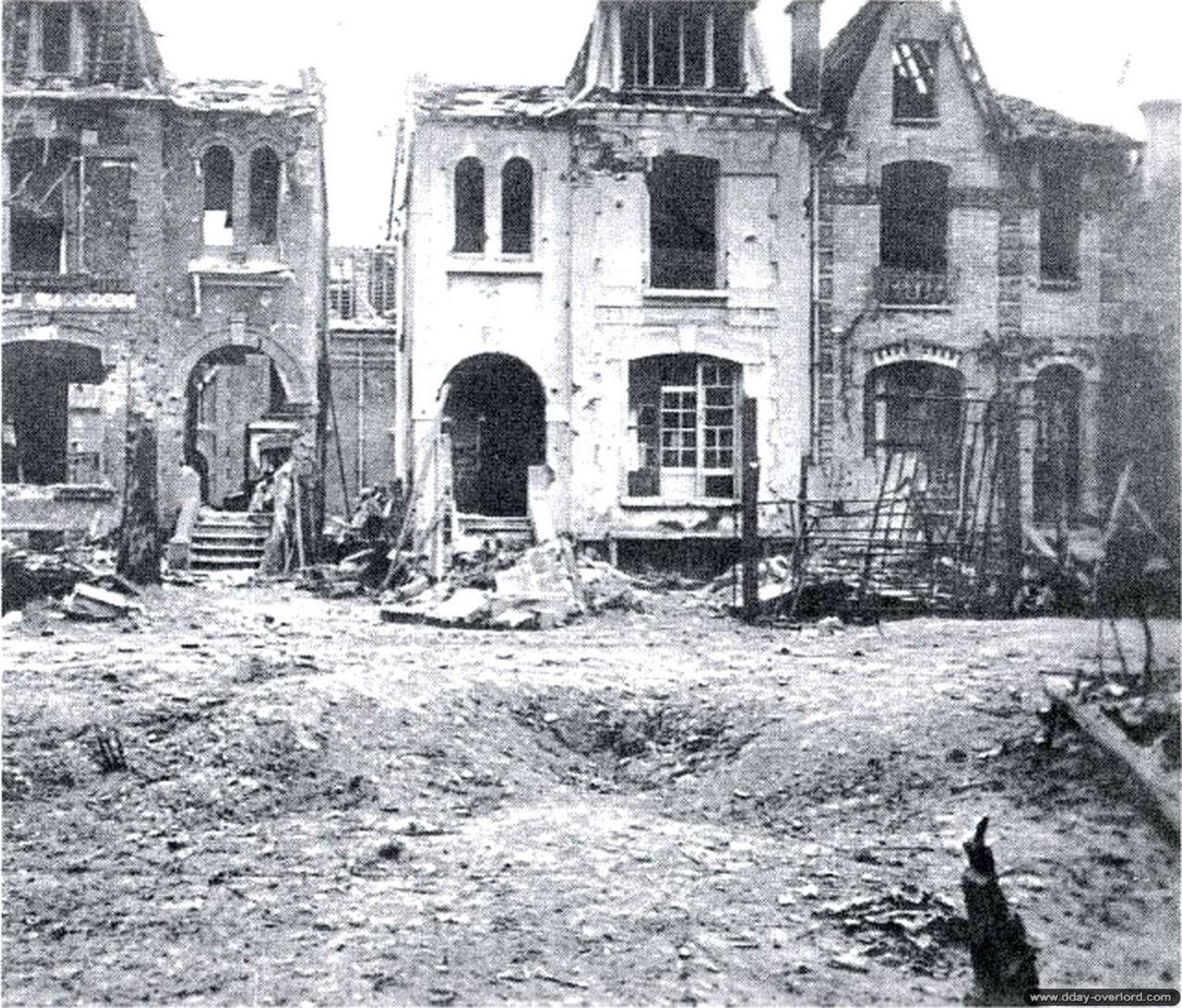 Photos de caen pendant la bataille de normandie dans le d partement du calvad - Rue saint laurent caen ...