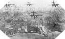 Image : Bombardement en mai 1944 de la Pointe du Hoc
