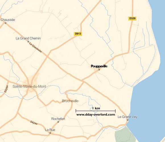 Image : carte de la commune de Pouppeville