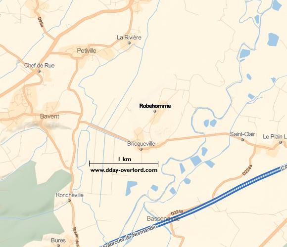 Image : carte de la commune de Robehomme