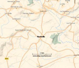 Carte de Rocheville (Manche)