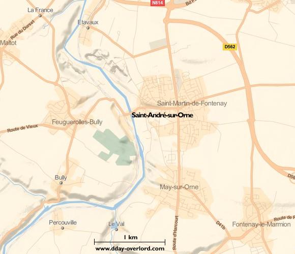 Image : carte de la commune de Saint-André-sur-Orne