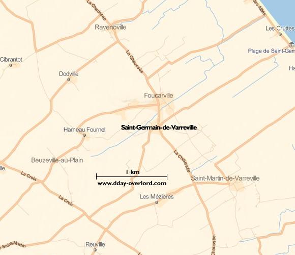 Image : carte de Saint-Germain-de-Varreville