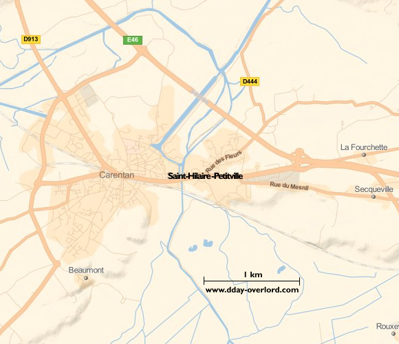 Image : carte de la commune de Saint-Hilaire-Petitville