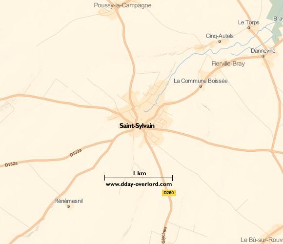 Image : carte de la commune de Saint-Sylvain
