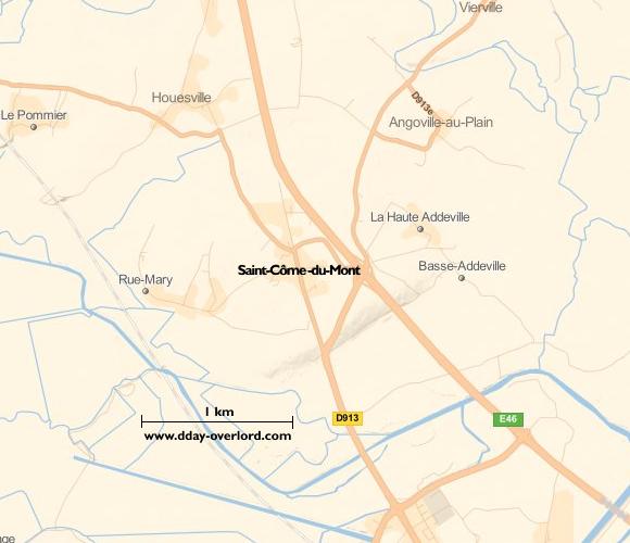 Image : carte de la commune de Saint-Côme-du-Mont