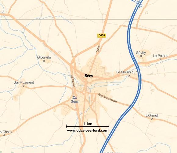 Image : Carte de Sées dans l'Orne