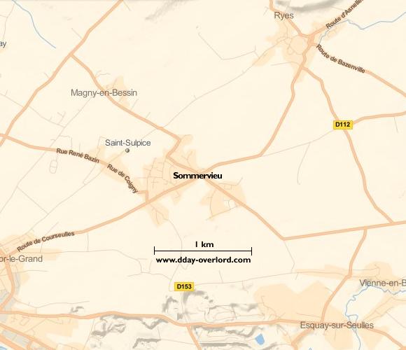 Carte de Sommervieu (Calvados)