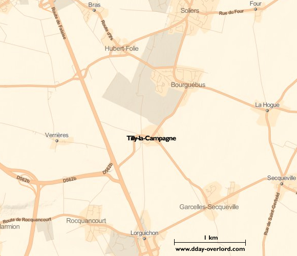 Image : carte de la commune de Tilly-la-Campagne