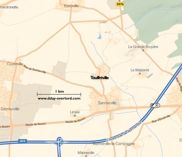 Image : carte de la commune de Touffréville