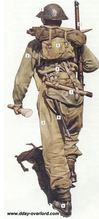 Image : Tenue britannique de soldat d'infanterie