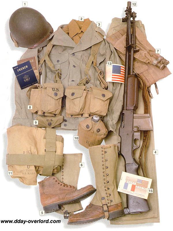 Image : Tenue américaine de soldat d'infanterie