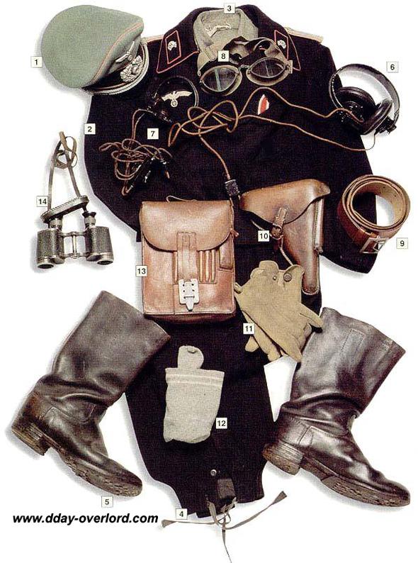 Image : Tenue de tankiste allemand