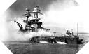 Image : L'USS Nevada à Pearl Harbor le 7 décembre 1941