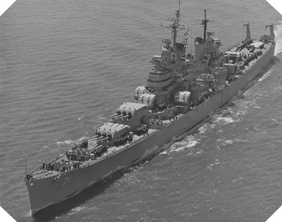 Image : croiseur USS Quincy