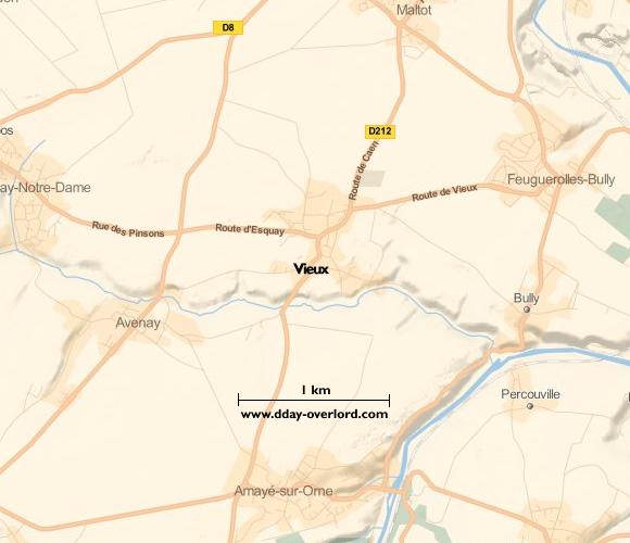 Image : carte de la commune de Vieux