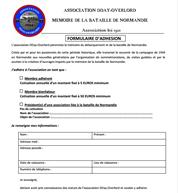 Lien : formulaire d'adhésion à l'association D-Day Overlord