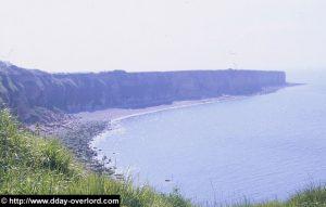 Les falaises ouest de la Pointe du Hoc