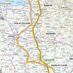 Parcours de l'étape N°3 du Tour de France 2016 entre Granville et Angers le 4 juillet