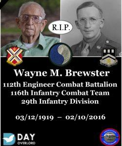 Wayne M. Brewster - 112th Engineer Combat Battalion