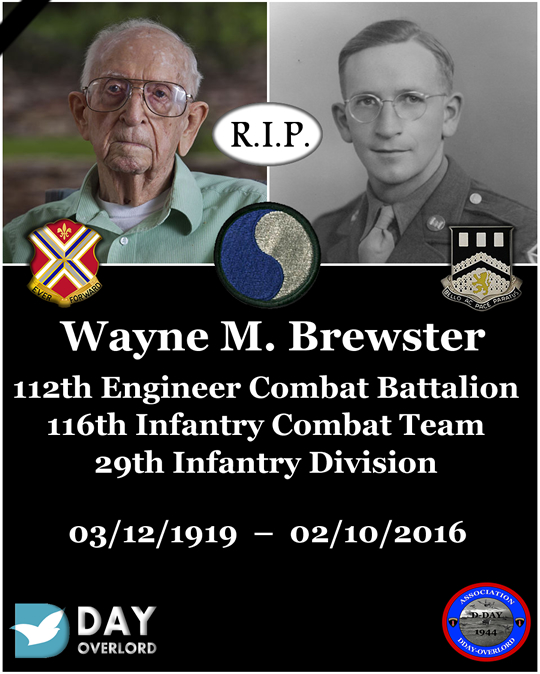 Wayne M. Brewster - 112th Engineer Combat Battalion