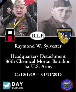 Raymond W. Sylvester - 86th chemical Mortar Battalion