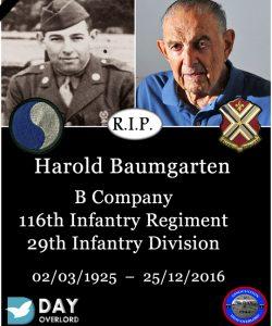Harold Baumgarten - 29th Infantry Division - Omaha Beach