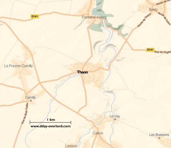 Carte de Thaon (Calvados)