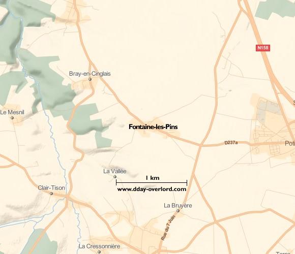 Image : Carte de Fontaine-Henry dans le Calvados