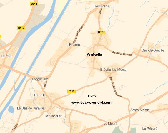 Image : carte de la commune d'Amfreville