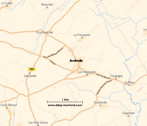 Image : carte de Amfreville