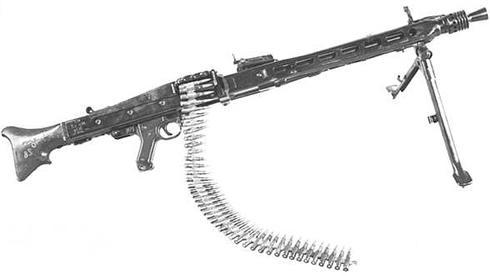 Image : Mitrailleuse MG 42 allemande