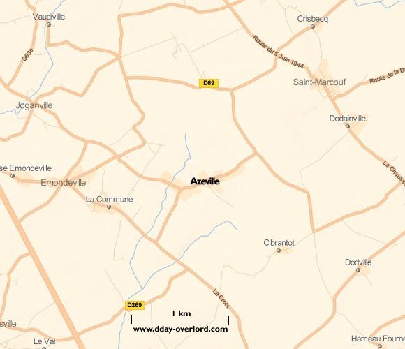 Image : carte de Azeville