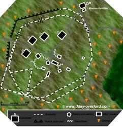Lien : Plan de la batterie de Merville