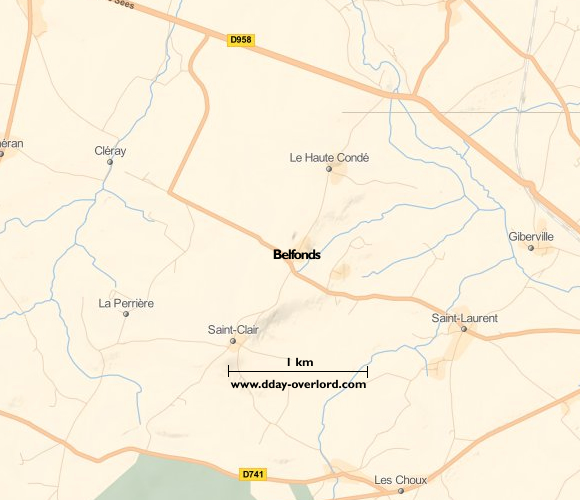 Image : Carte de Belfonds dans l'Orne