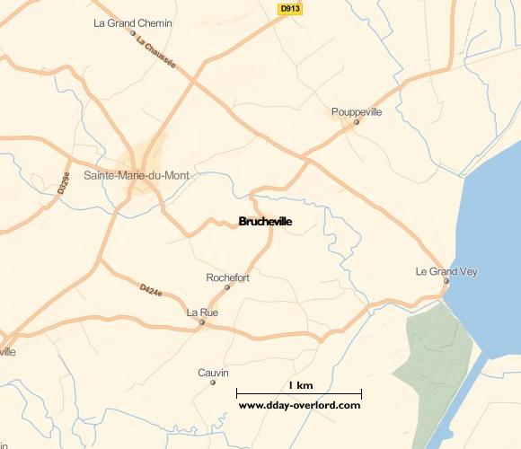 Image : carte de la commune de Brucheville