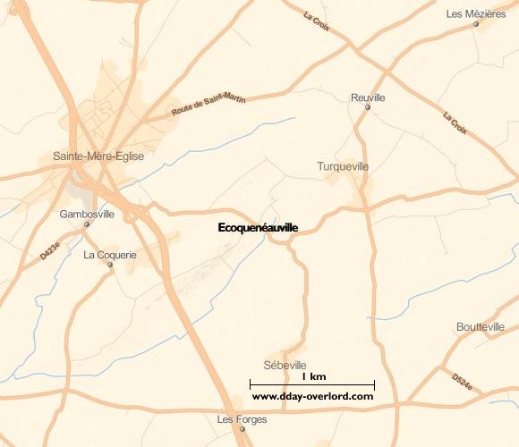 Image : carte de Ecoquenéauville